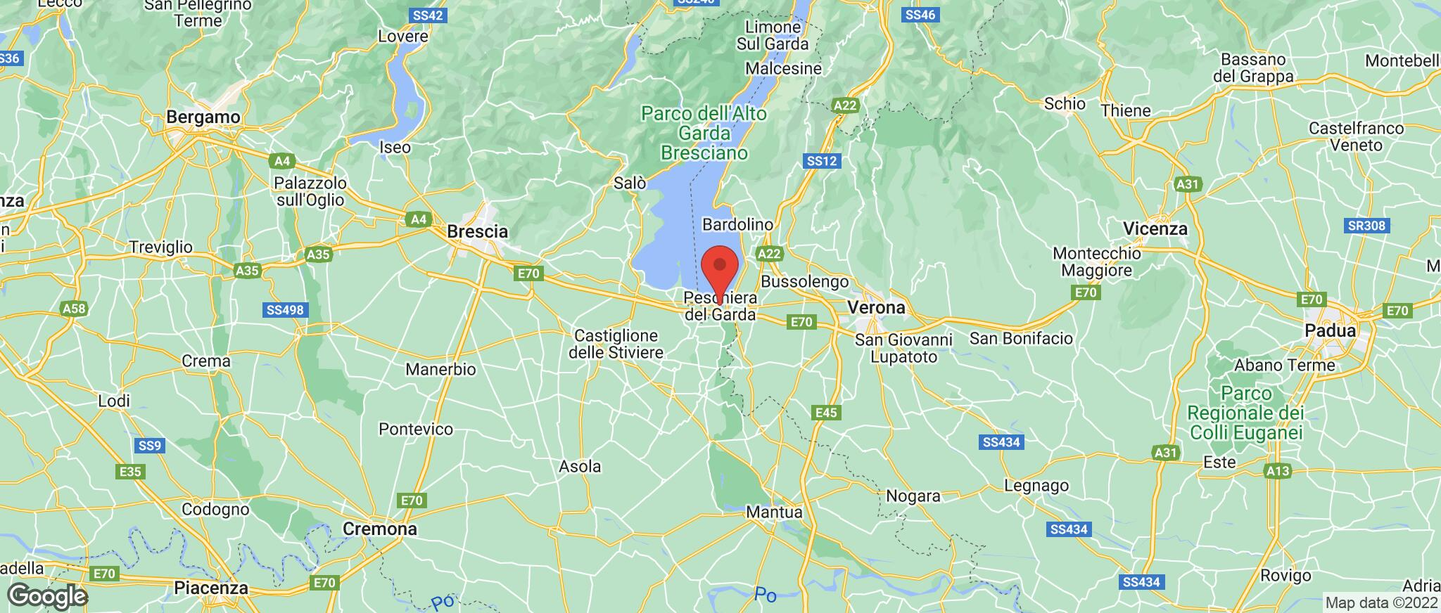 Map showing the location of Peschiera