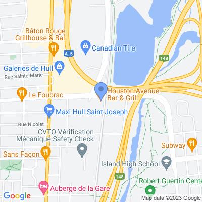 Houston Avenue Bar & Grill - Gatineau Map