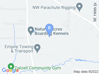 Map of Natures Acres Boarding Kennels Dog Boarding options in Damascus | Boarding