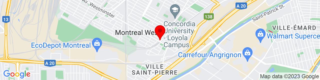 Google Map of 45.452853, -73.6442548