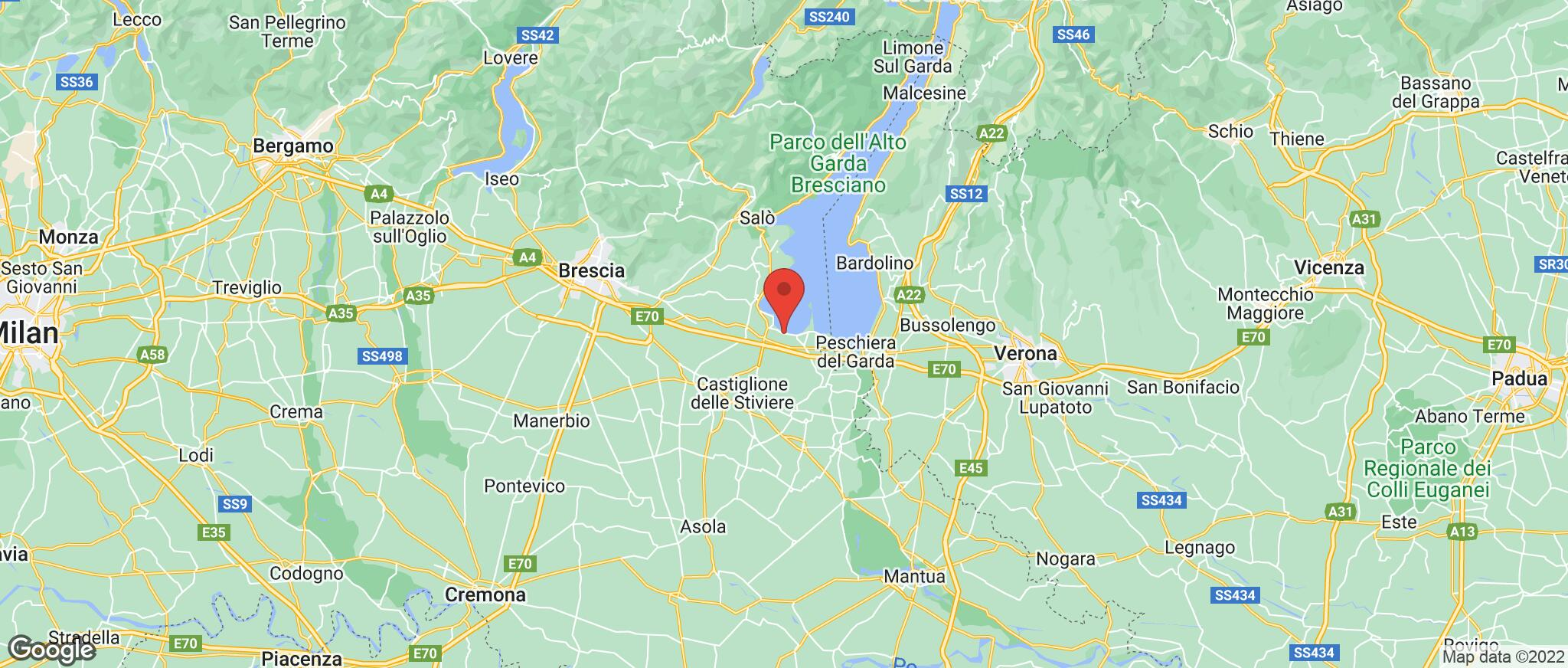 Map showing the location of Desenzano