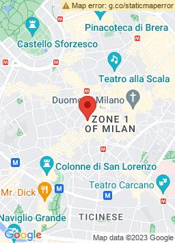 Google Map of Flat in Milan - Duomo City Center