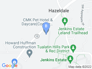 Map of Cooper Mountain Kennel Dog Boarding options in Beaverton | Boarding