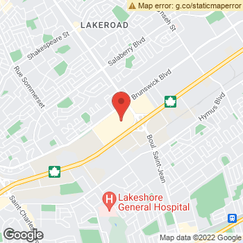 Map of Aerie at 6801 Trans Canada Highway, Pointe-Claire, QC H9R 5J2