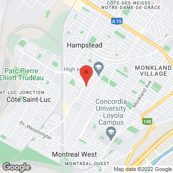 Map of Tim Hortons at 6500 Côte St Luc, Montreal, QC H4V 1G2