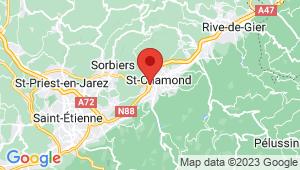 Carte de localisation du centre de contrôle technique ST CHAMOND