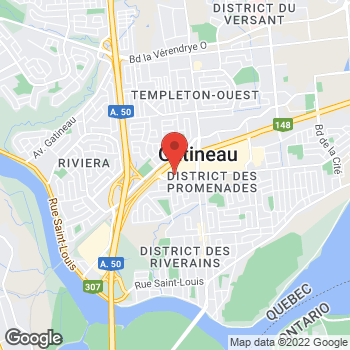 Map of Tim Hortons at 25 Ch De La Savane, Gatineau, QC J8T 8A4