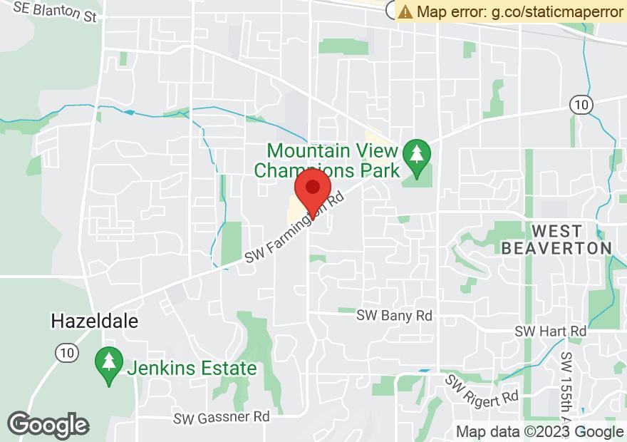 Google Map of 18470 SW FARMINGTON RD