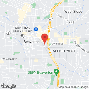 Map of Michael J Lindsay, DDS at 4925 SW Griffith Drive, Beaverton, OR 97005