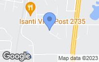 Map of Isanti, MN