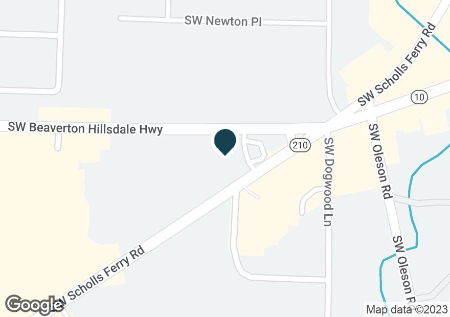 Google Map of7280 SW BEAVERTON HILLSDALE HWY