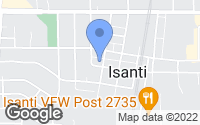 Map of Isanti, MN