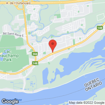 Map of Tim Hortons at 933 Boul Maloney Est, Gatineau, QC J8P 1H8