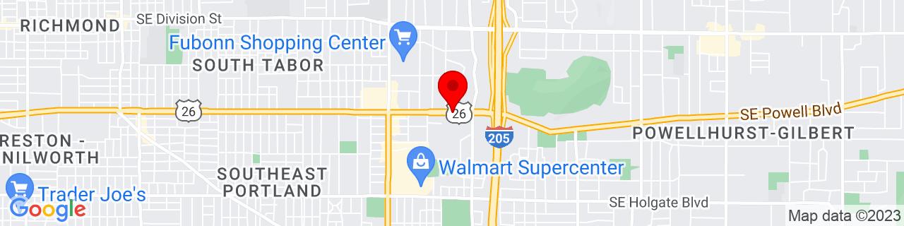 Google Map of 45.49733459999999, -122.5709682