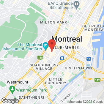 Map of Michael Kors - Closed at 1307 Rue Sainte-Catherine Ouest, Montreal, QC H3G1P7