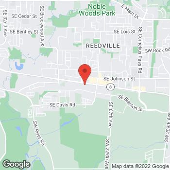Map of Gurmeet Kaur Case, DDS at 5935 SE Alexander Street, Hillsboro, OR 97123