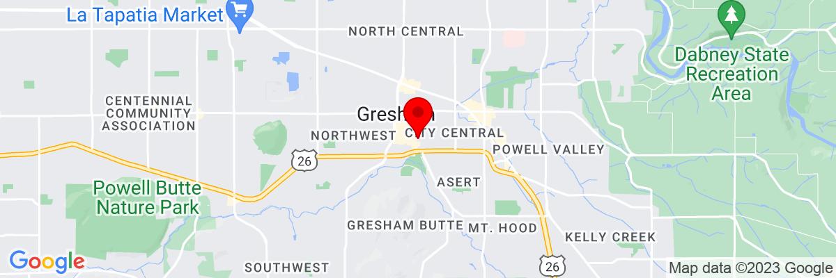 Google Map of 45.500135833333,-122.43020138889
