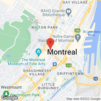 Map of Tim Hortons at 977 Rue Ste-catherine Ouest, Montreal, QC H3B 4W3