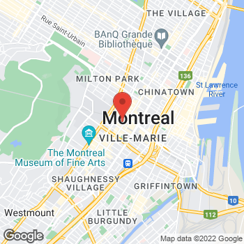 Map of Burger King at 705 Rue Ste-catherine Ouest, Montreal, QC H3B 4G5
