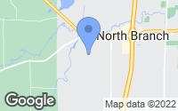 Map of North Branch, MN