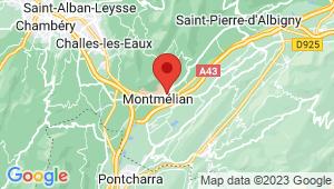 Carte de localisation du centre de contrôle technique MONTMELIAN