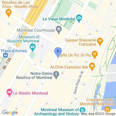 Dépanneur Vieux Montreal Map