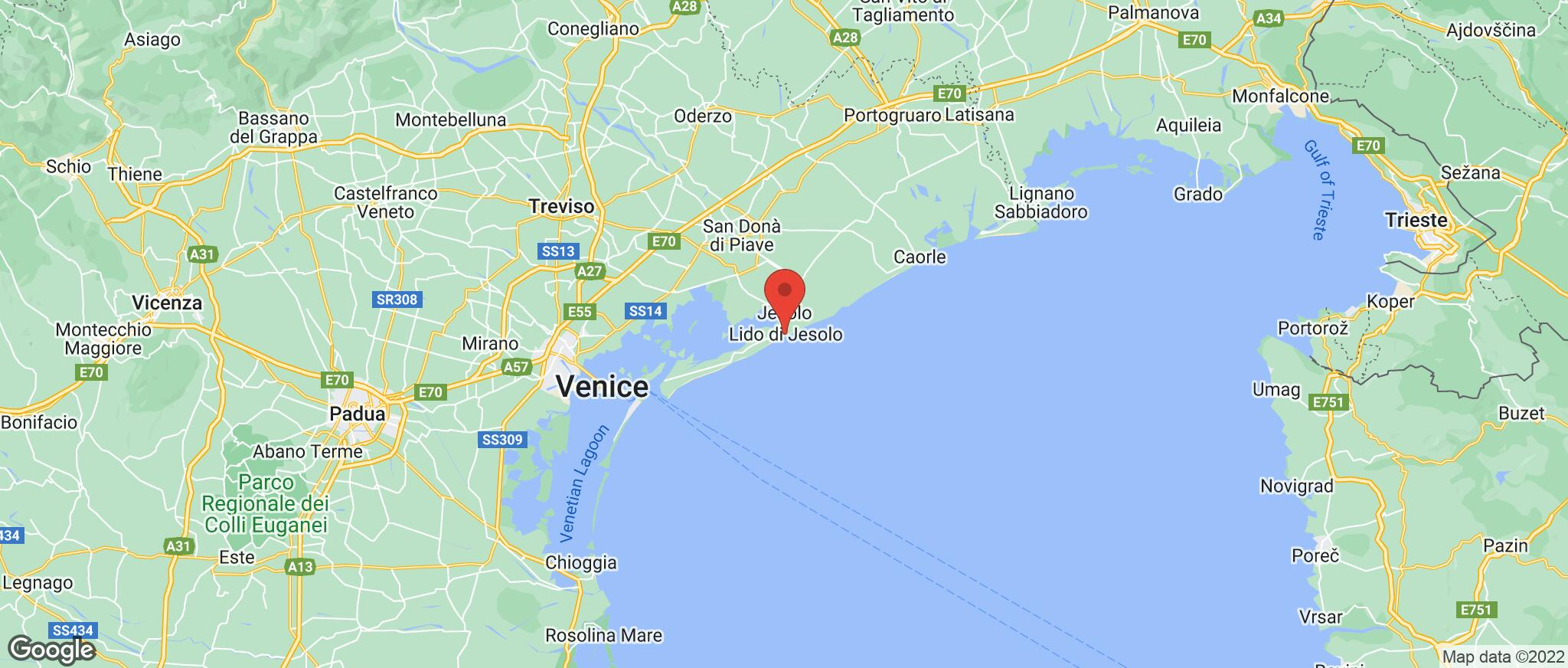 Map showing the location of Lido Di Jesolo
