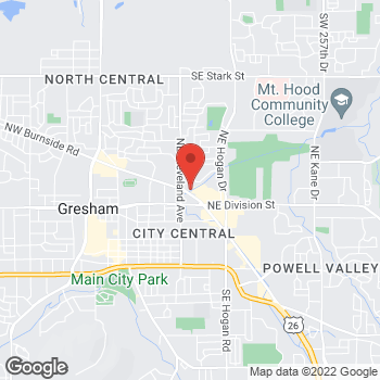 Map of Willamette Dental Group - Gresham at 1107 NE Burnside Road, Gresham, OR 97030