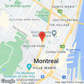 Map of Tim Hortons at 3440 Boul St Laurent, Montreal, QC H2X 2T9