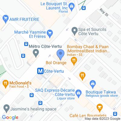 Dépanneur Nader Map