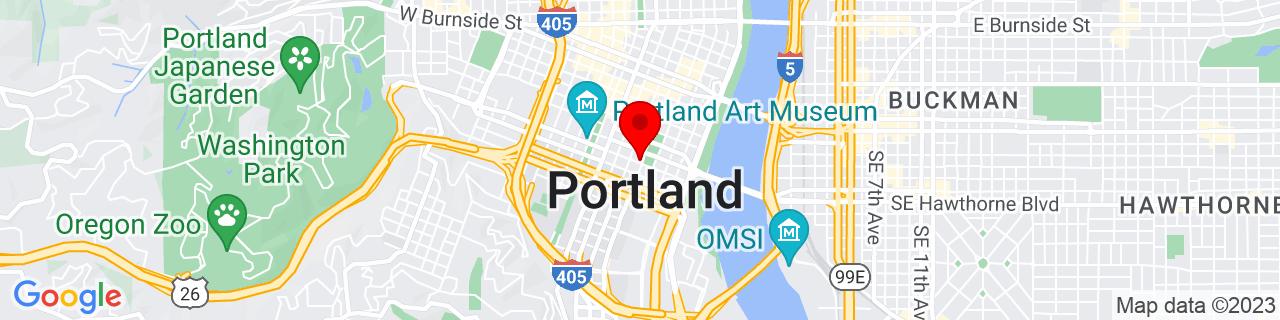 Google Map of 45.5147306, -122.6787903