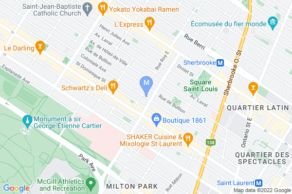 Map of 3767 Avenue Coloniale