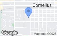 Map of Cornelius, OR