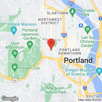 Map of Kariana Peters, DMD at 1933 SW Jefferson Street, Portland, OR 97201