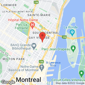 Map of Tim Hortons at 1252 Rue Ste-catherine Est, Montreal, QC H2L 2H2