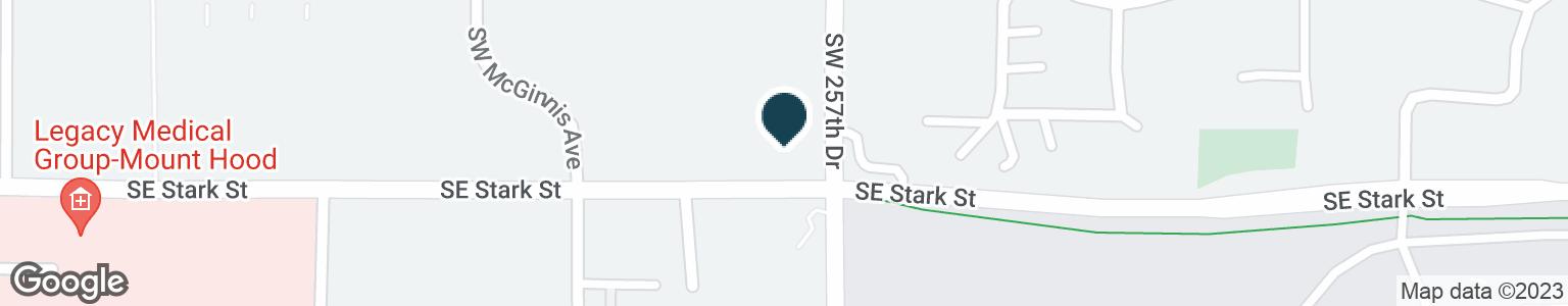Google Map of25699 SE STARK ST