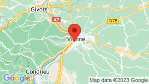 Carte de localisation du centre de contrôle technique VIENNE