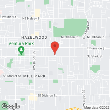 Map of Willamette Dental Group - Portland - Stark 2 at 405 SE 133rd Street, Portland, OR 97233
