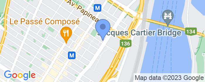 Lieu localisé sur une carte