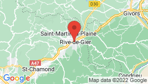 Carte de localisation du centre de contrôle technique RIVE DE GIER