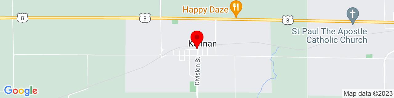 Google Map of 45.531356, -90.58709089999999