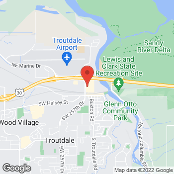 Map of Christopher & Banks Outlet at 450 NW 257th Way, Troutdale, OR 97060