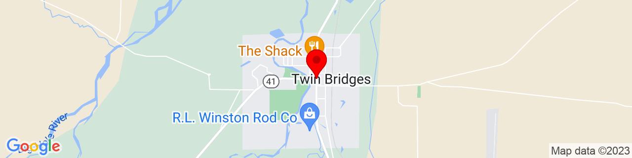 Google Map of 45.54426, -112.3310399