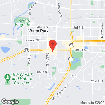 Map of Pizza Ranch at 110 2nd Street South, Waite Park, MN 56387