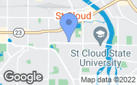 Map of St. Cloud, MN