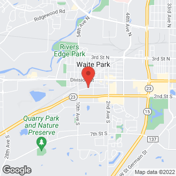 Map of BAYADA Pediatrics at 742 1st Street South, Waite Park, MN 56387