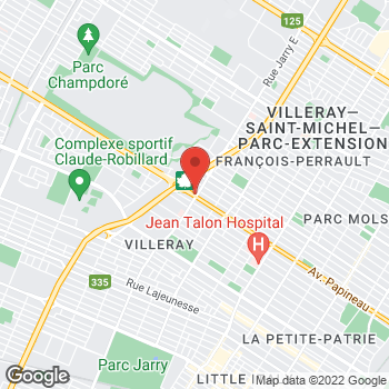 Map of Tim Hortons at 8115 Av Papineau, Montreal, QC H2E 2H7