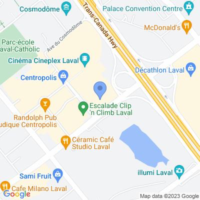Houston Avenue Bar & Grill - Centropolis Map