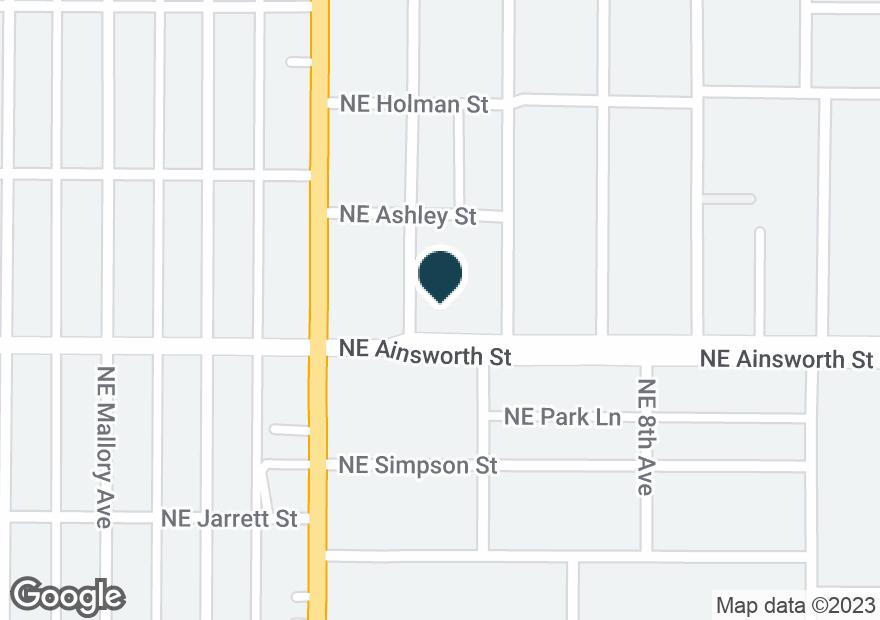 Google Map of6116 NE M L KING BLVD
