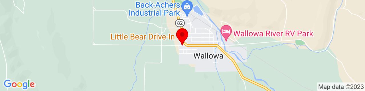 Google Map of 45.5701727, -117.5360742
